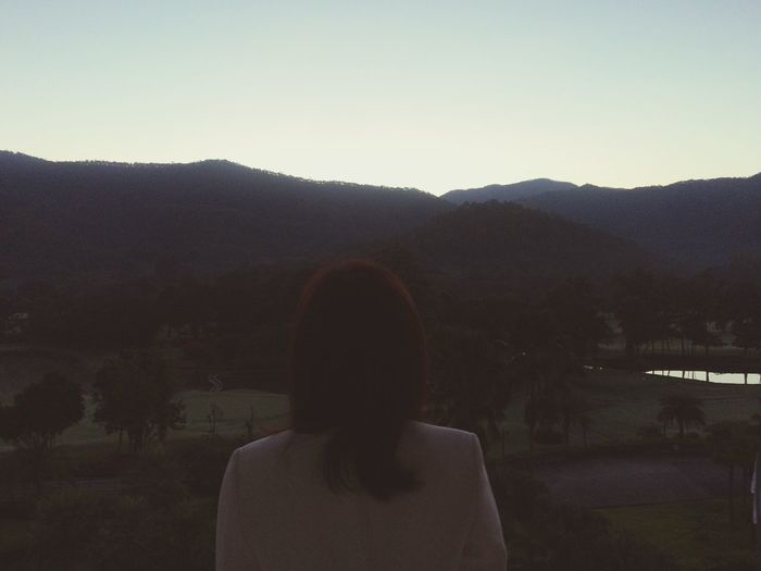 Morning Sky Woman In Black