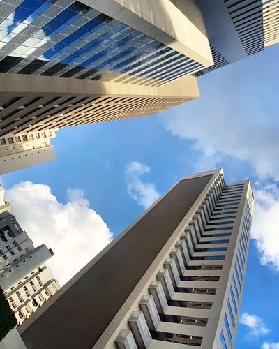 Cloud - Sky Architecture Sky Building Exterior Built Structure Low Angle View Outdoors Day No People City Skyscraper The City Light EyeEmNewHere Minimalist Architecture