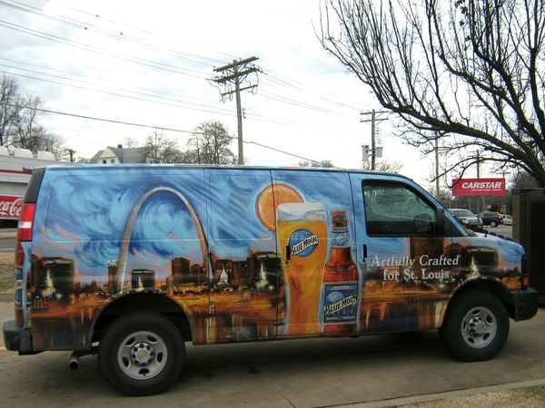 St. Louis, Missouri ~ USA ~ The Gateway to the West. Home of the Famous St. Louis Arch. And now home to Blue Moon Beer? Delivery Van Delivery Service St. Louis, Missouri St Louis Missouri Beer - Alcohol Beer Anyone?