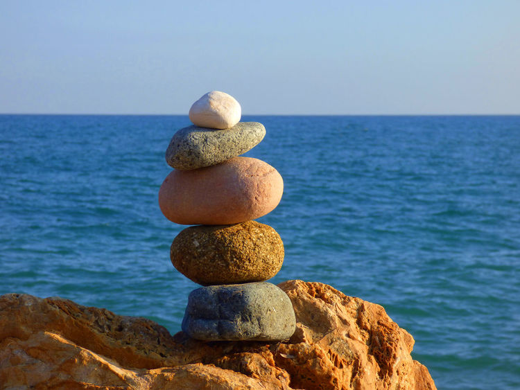 Beach Photography Beauty In Nature Day Ephemeral Meditation Nature No People Outdoors Philosophy Rock Formation Sea Stone Balance Water Zen