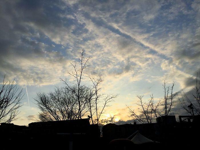 Sunset Silhouette Sky Architecture Built Structure Building Exterior Cloud - Sky