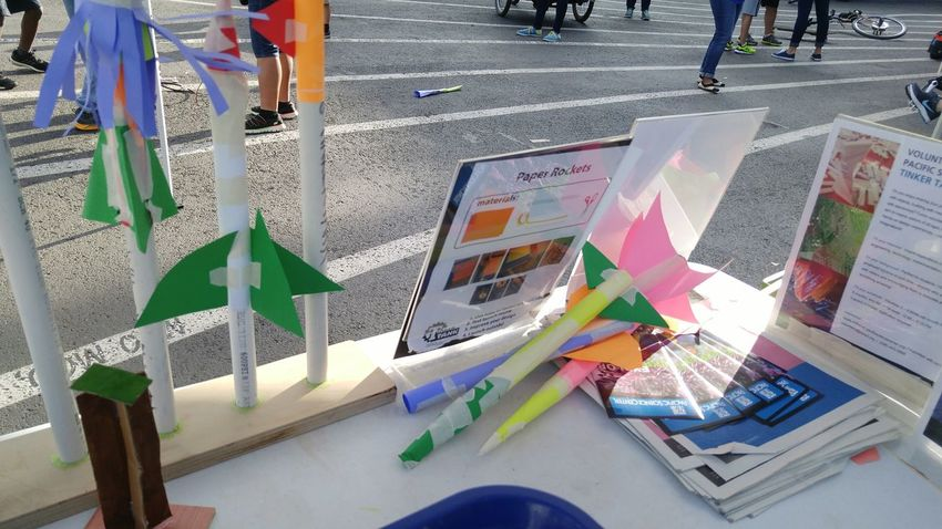 Creativity Street Low Section Road Display Multi Colored Person Creativity Outdoors Rockets Craft Day Color Of Technology