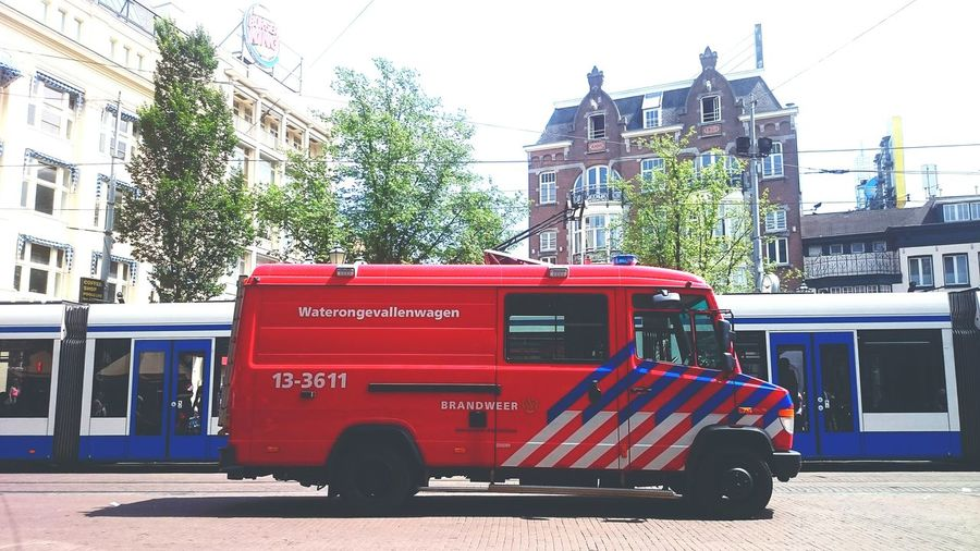 Brandweer Amsterdam Tourists Firefighter Firetruck Tram Leidseplein Summer Summertime Summer2015