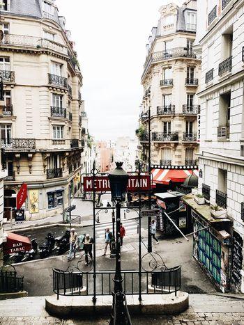 Architecture City Metropolitan Paris France Building Metro Red