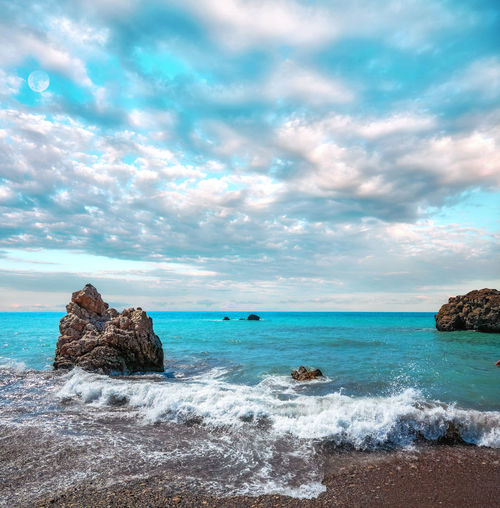 Dramatic clouds over cyprus sea in summer