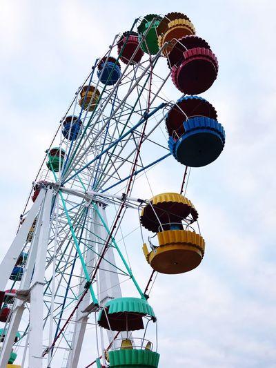 Карусель 🎡 Low Angle View Sky Hanging Nature Lighting Equipment Amusement Park Ride Decoration