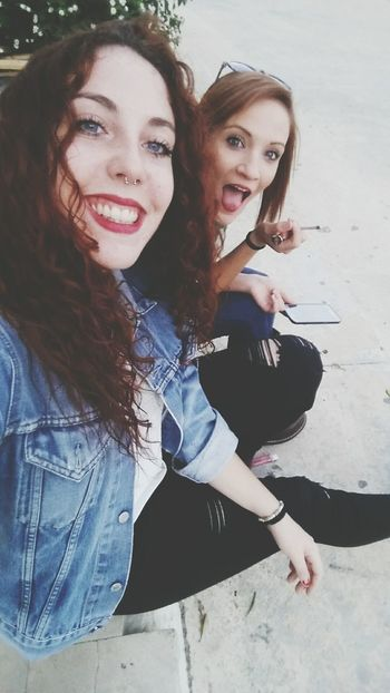 Beauty Piercing Hello World Red Lips BlueEyes That's Me Today's Hot Look Septum Friend Friendship Joint Hi