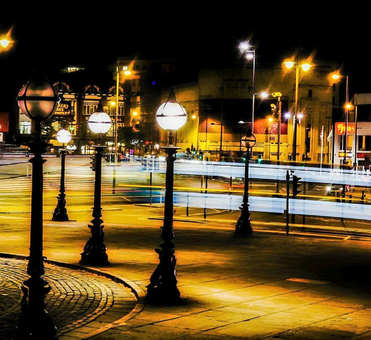 illuminated, night, street light, no people, outdoors