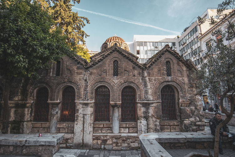 Athens Athens Greece Athens, Greece Architecture Built Structure Building Exterior Building Sky Plant Nature Tree Day Place Of Worship No People Religion The Past History Arch Belief Spirituality Façade Outdoors