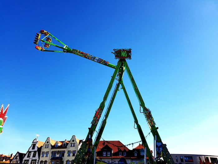 Octoberfest Oktoberfest Octoberfest2018 Oktoberfest2018 Amusement Park Ride Arts Culture And Entertainment Amusement Park Blue Rollercoaster Business Finance And Industry Crane - Construction Machinery Nightlife Enjoyment Oil Pump Tall - High Construction Tall Carousel Tower A New Beginning EyeEmNewHere