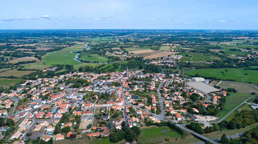 Aerial photography of Port Saint Pere village in Loire Atlantique, France Church City EyeEm Selects EyeEm Gallery France Houses Aerial Photography Aerial View Architecture Building Exterior Cityscape Countryside Day French Landscape Loire Atlantique No People Outdoors Port Saint Père Rural Scene Town Village