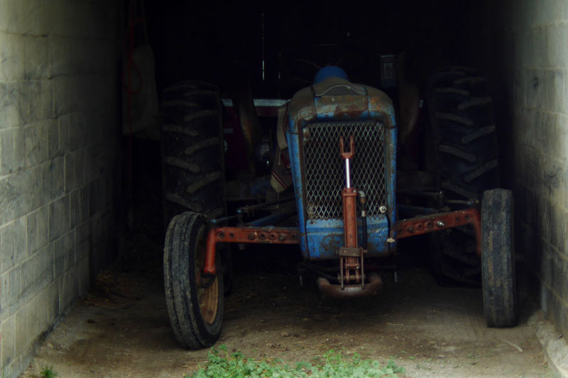 Farm tractor. Americanmade Factory Farm Life Farmmachinery Land Vehicle Machinery Old Parked Parking Stationary Tractor Tractorporn Wheel