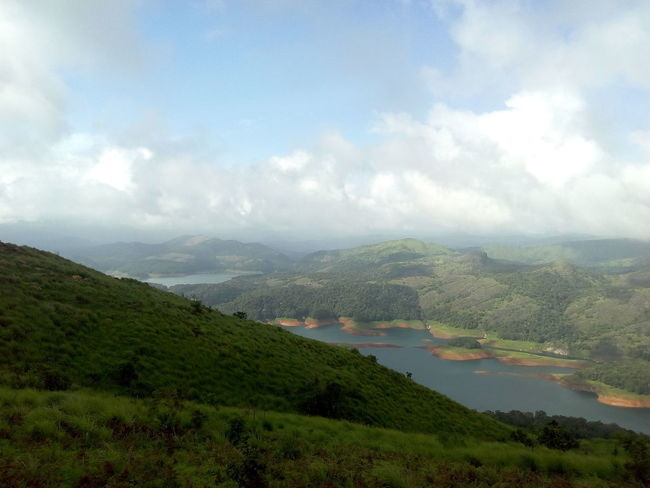 A beautiful view of Idukki dam reservoir from Calvary Mount view point. Calvary Mount Idukki Dam River View Beauty In Nature Clouds And Sky Dam Day Hills And Valleys Idukki Kerala Landscape Meadow Mountain Nature No People Outdoors Range Scenery Scenics Sky Tree Vegetation View Point Water