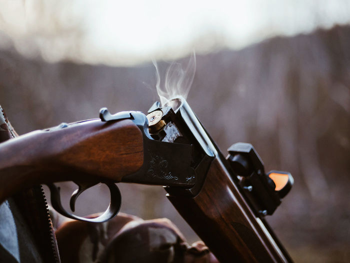 Close-Up Of Gun