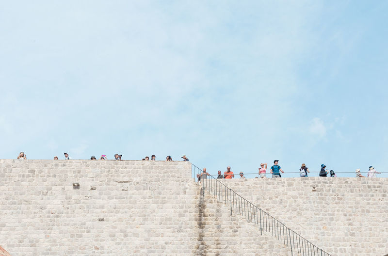 Hierarchy Cloud - Sky Day Lookout Negative Space Rule Of Thirds Sky Stairs Stone Material Tourism Tourist Tranquil Scene Vacations #FREIHEITBERLIN