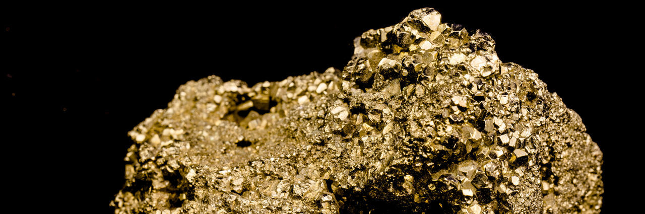 Staircase made of many cubic pyrite crystals, cropped, close-up, false gold, background black Gold Isolated Shiny Background Black Black Background Close-up Cropped Crystal Cubic Day False Geology Gold Colored Mineralogy Nature No People Pattern Pyrite Rock - Object Studio Shot Textured