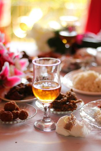 Food on the table on a wedding celebration. Wine Wineglass Wineandmore Filipino Food Lunch Celebrations Wedding Party Food And Drink Refreshment Drink Glass Alcohol Food Drinking Glass Table Wineglass Wine Celebration Event