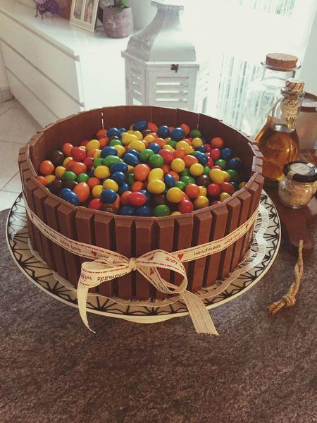Multi Colored Sweet Food Celebration Dessert Birthday Birthday Cake Unhealthy Eating Food And Drink HappyBirthday M&m's Kitkat