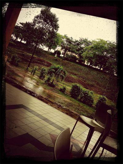 Stuck in rain ! hmm