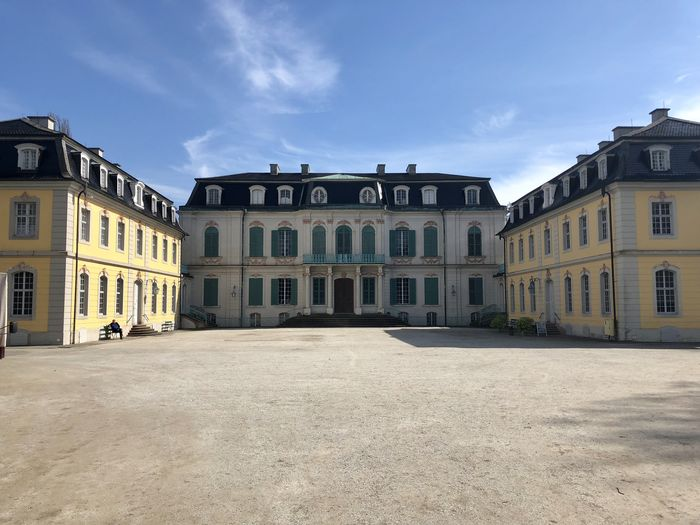 Schloss Wilhelmstal Architecture Blue Building Building Exterior Built Structure City Cloud - Sky Day Façade History In A Row Nature No People Outdoors Residential District Sky Sunlight The Past Window