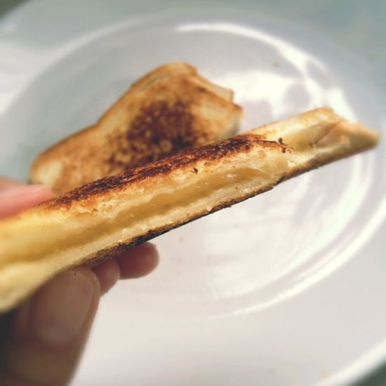 Begin this Morning with Grilled Cheese Sandwich um.. Yummy