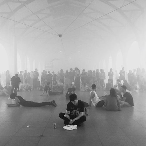 Art performance Art Installation Performance Hamburger Bahnhof People Act Like A Movie White Smoke Actors Performer  Performing Arts