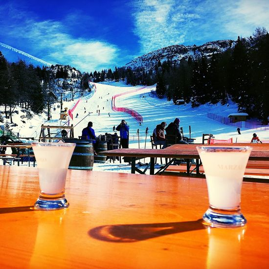 grappa time! Andalo Grappa Ski Skiing Sun Gopro Snow Winter Wintertime Break EyeEm Best Shots Beautiful Day Relaxing Relax Friends