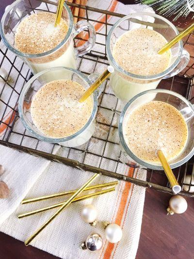 Eggnog Christmas tradition drink eggs cold egg nog cinnamon holiday