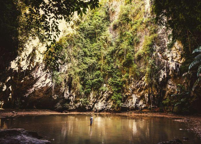 EyeEmNewHere Lagoon Thailand Man Siluette Exotic Tree Water Lake Standing The Traveler - 2018 EyeEm Awards