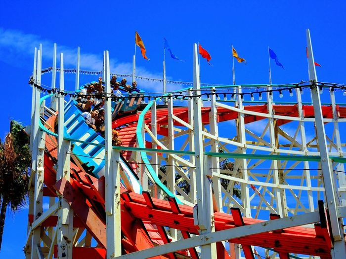 Fun Rides Chilling Fun Rides Themepark Kidforever Amusement Park Ride Clear Sky Day No People Outdoors Roller Coaster Sky