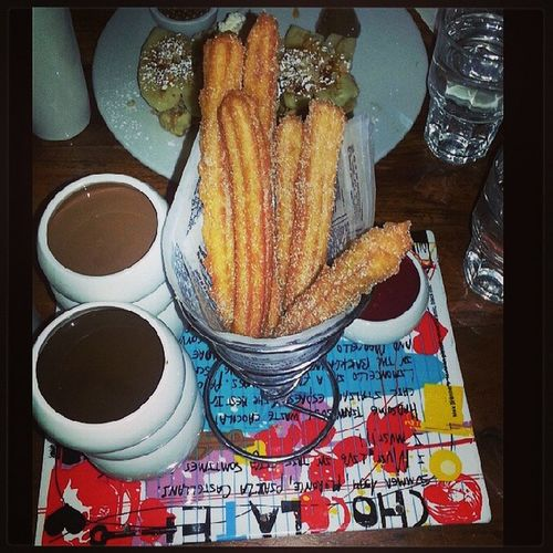 NYC Churros Chocolate Maxbrenner sweets delicious