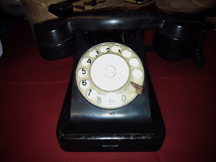 Landline phone. Retro Styled Single Object Phone Conceptual Comunication Eye4photography  Soft Colors  17.62° Vintage Eye4photography  Eye For Photography No People Non-urban Scene Telephone Receiver Rotary Phone Technology Telephone Old-fashioned Communication Retro Styled Table Landline Phone