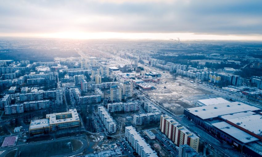 Cityscape Aerial Drone  Dronephotography Dji City Lithuania Lietuva Drone  Aerial Shot EyeEm Selects Aerial Photography Šiauliai City Cityscape Urban Skyline Modern Skyscraper Aerial View Sunset Downtown District Business Finance And Industry High Angle View Urban Sprawl High Rise Tall - High Urban Road Financial District