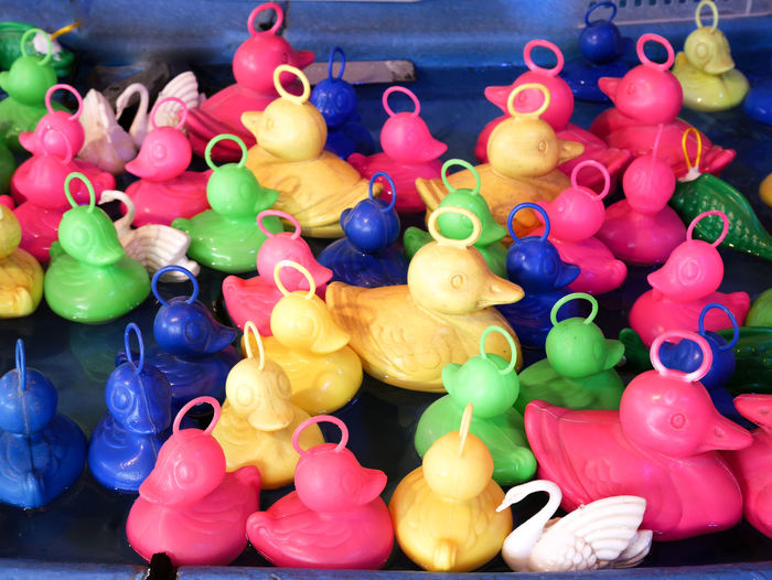 Rubberducks Animal Representation Choice Close-up Day Ducks For Sale Indoors  Large Group Of Objects Multi Colored No People Variation