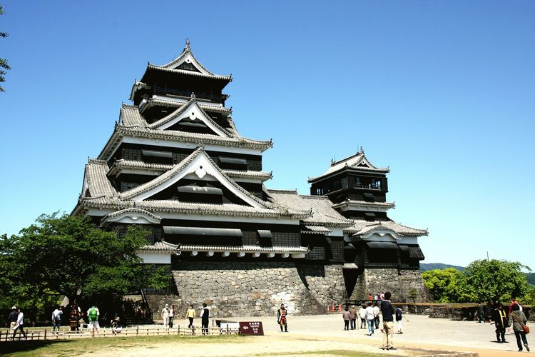kumamoto,japan japan 熊本城 熊本熊本復興 城 kumamoto Travel Destinations Blue Architecture Outdoors Day People One Person Sky Adults Only Adult