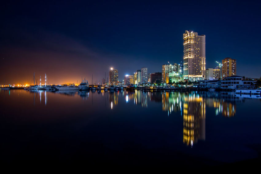View of Harbor Square - Roxal Blvd. Manila Architecture Building Exterior Built_Structure City City Life Cityscape Downtown District Harbor Square, Manila Illuminated Long Exposure Modern Night No People Outdoors Reflection Sky Skyscraper Tower Travel Destinations Urban Skyline Water Waterfront Fresh On Market 2017