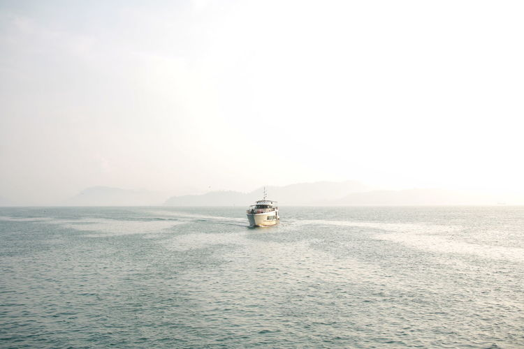 ferry boat Nautical Vessel Water Sea Sailing Ship Sailing Clear Sky Sunset Wave Beach Panoramic Ship Passenger Ship Ferry Cruise Tourboat Water Vehicle
