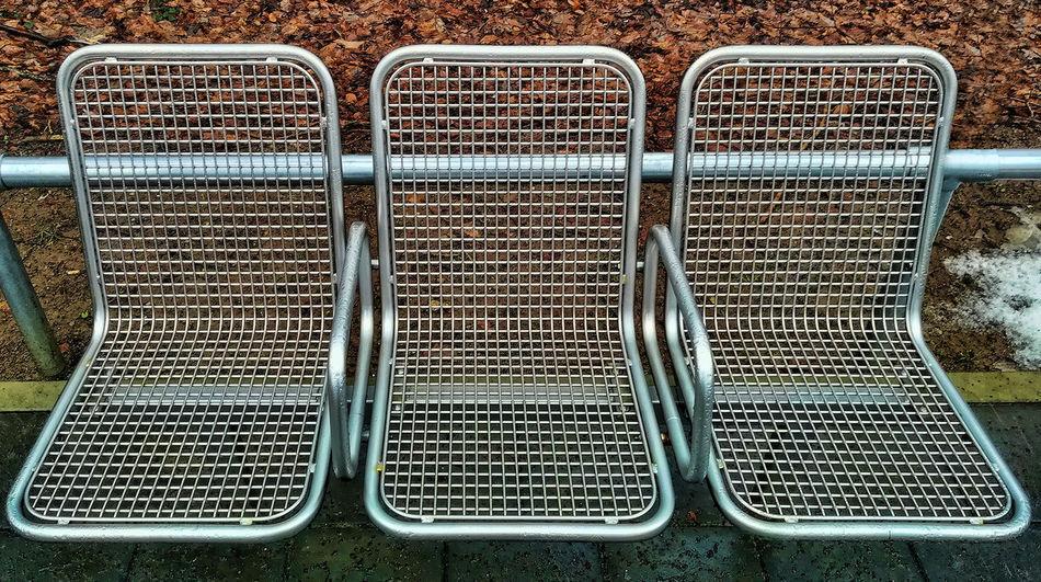 Parkbank Metal Outdoors Pause Ruhe Seats
