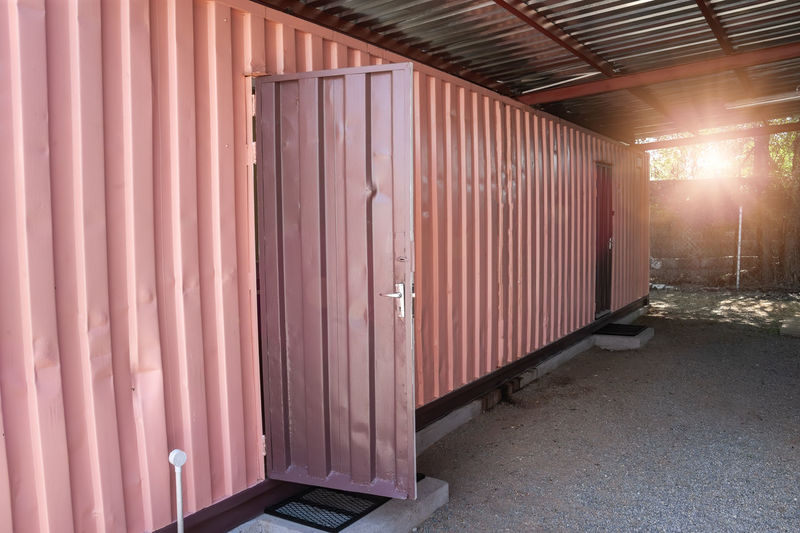 Entrance of cargo container
