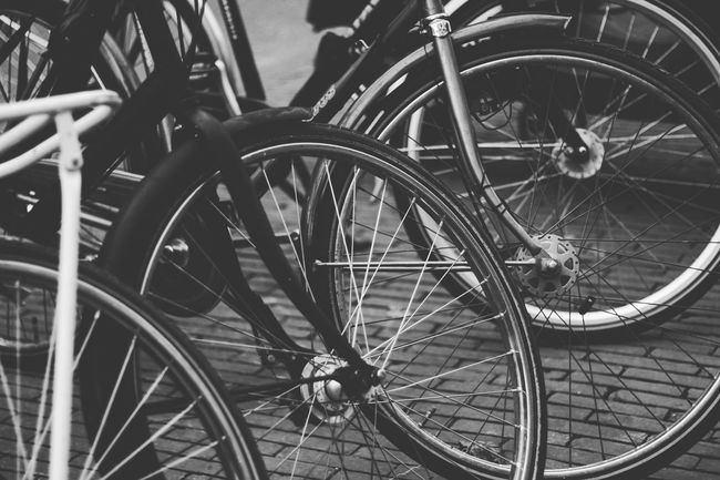 Bicycle Mode Of Transport Pedal Outdoors Moment Photography Noir Et Blanc Lovephotography  Canonphotography From My Point Of View Amsterdam Velos Tourisme
