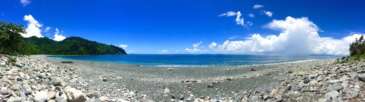 Dipaculao, Aurora Eyeem Philippines Beach Sea Beauty In Nature Nature Water Scenics Sky Blue Sand Tranquility Tranquil Scene Outdoors Idyllic Horizon Over Water Rock - Object Day Cloud - Sky Sunlight No People Panoramic