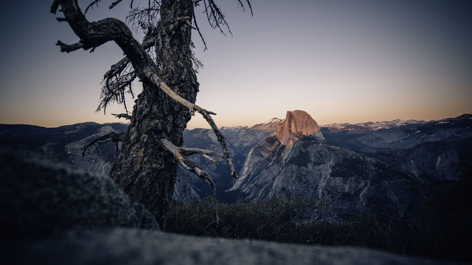 Same Place, Painted in a completely different lighting Glacier Point Glacier Point Yosemite Half Dome Winter Yosemite National Park Alpen Glow Beauty In Nature Dusk Landscape Mountain Nature No People Outdoors Scenics Sky Sunset Tranquil Scene Tranquility