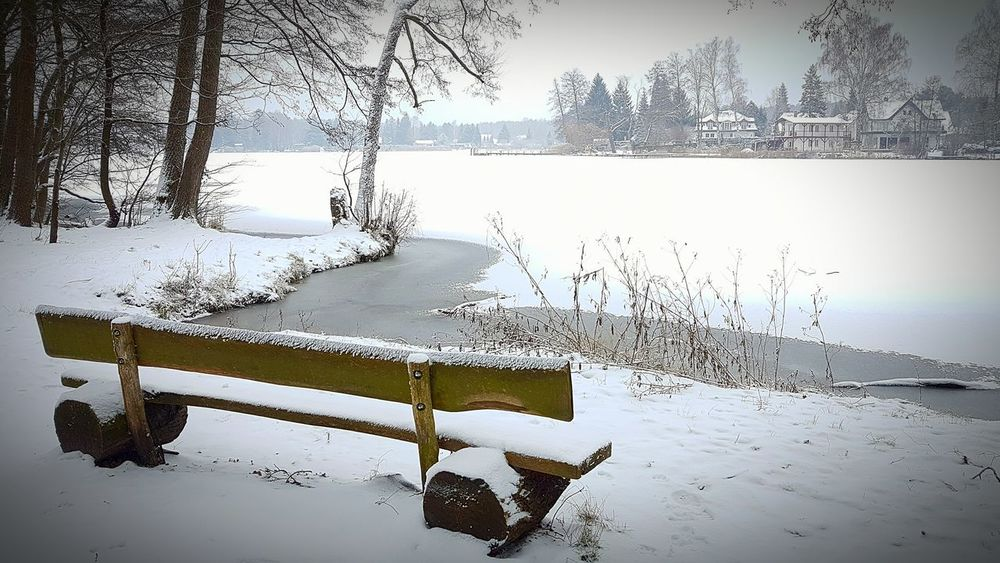 Ruhephase Seat Bench Relaxing Moments Nature Cold Temperature Water Winter Lake Snow Beauty In Nature Tranquility No People Tree Outdoors Day Landscape Winter_collection Nature_collection Beauty In Nature Frozen Water Very Cold Day Frozen Nature Frozen Lake EyeEm Gallery EyeEm Team EyeEm Nature Lover