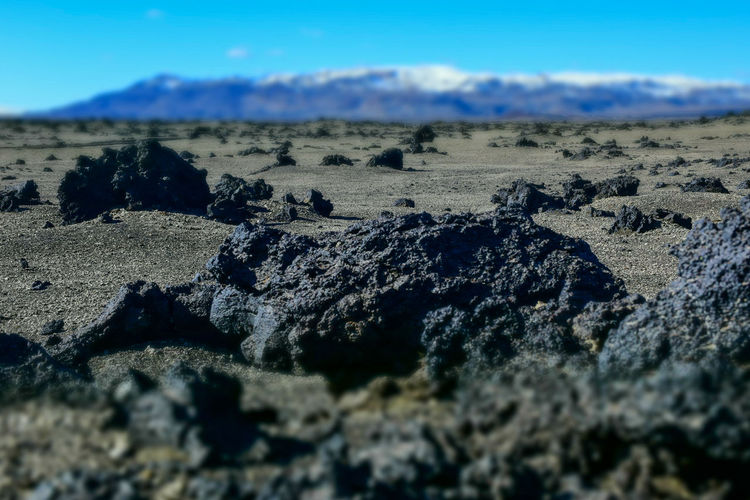 Lava Field, Iceland Arid Climate Beauty In Nature Day Extreme Terrain Geology Iceland Landscape Lava Mars Nature No People Outdoors Rock - Object Scenics Sky Tranquil Scene Tranquility Volcanic Rock