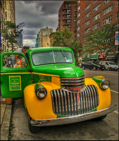 1946 Chevy flatbed, making deliveries - 9/6/16 As I Sees It Creative Blending Of Images W/ Layers In PS CC2016 EyeEm StreetPhotography, NYC Fresh On Market Sept. 2016 IPhone Creative Edits W/ Snapseed Learning W/ EyeEm Malephotographerofthemonth The Journey Is The Destination Vintage Car Still Earning A Living