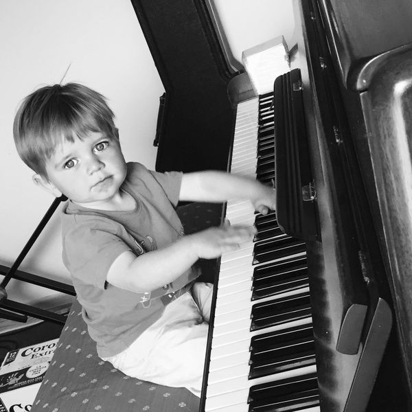 Piano Playingpiano  Cute LikeFatherLikeSon