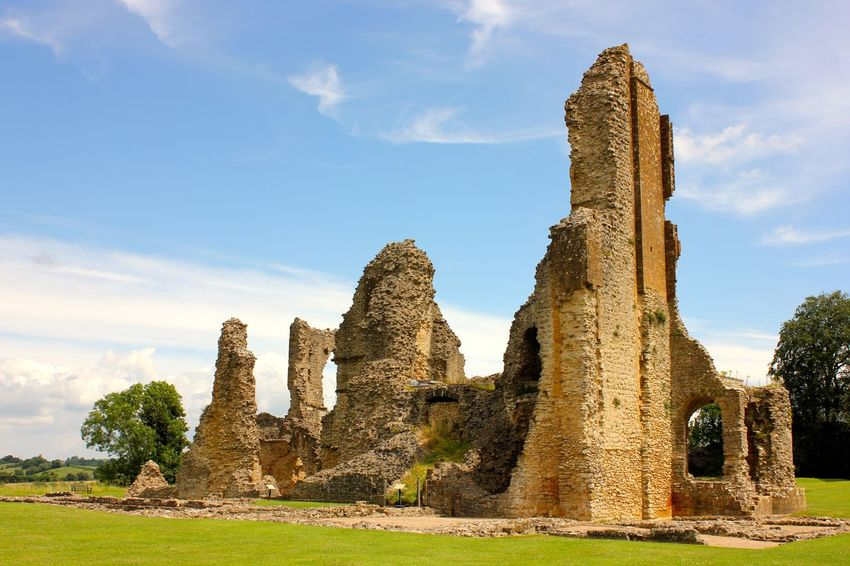old castle in sherborne Ancient Ancient Civilization Archaeology Architectural Column Architecture Built Structure Damaged Day Grass History Nature No People Old Ruin Outdoors Sky The Past Travel Destinations