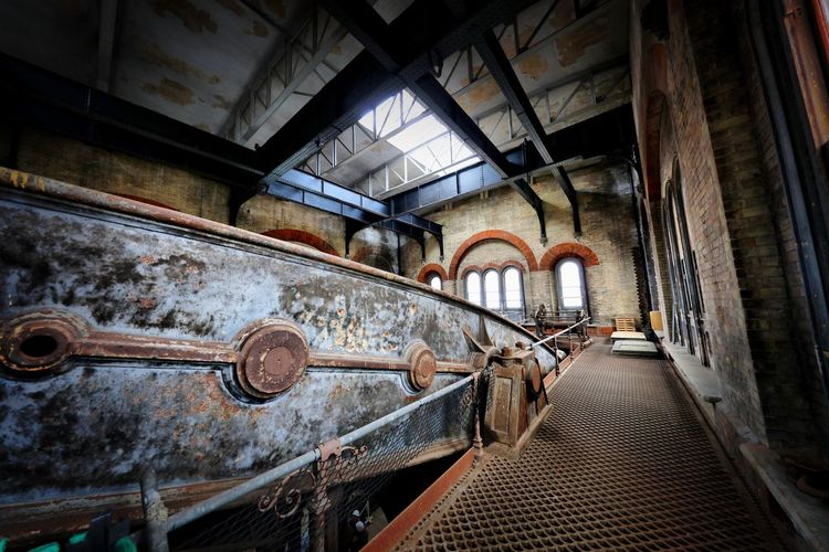 Crossness Pumping Station Indoors  Abandoned Rusty Old Metal Architecture The Past