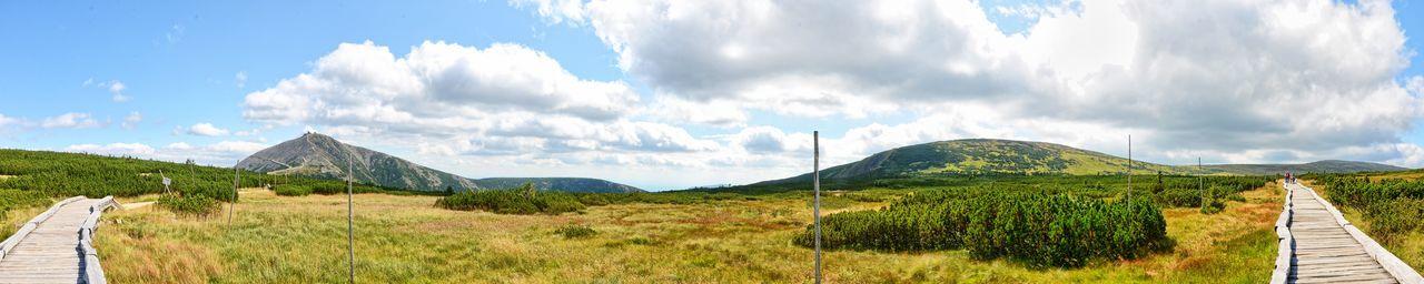 Way Cloud Cloud - Sky Grass Landscape Nature Tranquil Scene Trip Way