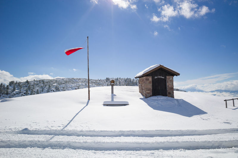 Rittner Horn Blut Sky First Snow November Rittner Horn Südtirol Alps Mountain Top Snow